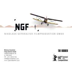 <p><strong>NGF – Nikolaus Geyrhalter Filmproduktion</strong><br /> Showreel für Berlinale 2010<br /> DVD Cover/Back</p>