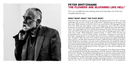 <p><strong>Peter Brötzmann&#96;s Long Story Short</strong><br /> 2012, Trost Records<br /> CD-Box &amp; Booklet</p>
